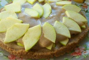 сыроедческий яблочный торт, сыроедение