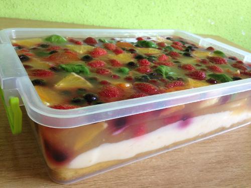 веганский желейный торт