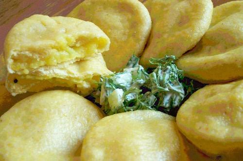 пирожки с кукурузной мукой