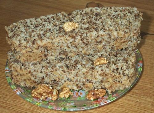 ореховый пирог в пароварке
