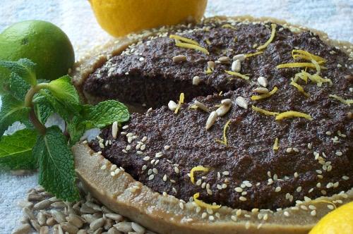 сыроедческий маковый пирог
