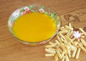 тыквенный суп на пару